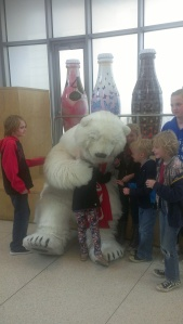 The Coke Bear and kids