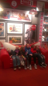 Posing in the Coke Museum