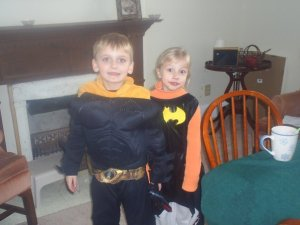 My superhero and one of his favorite friends.